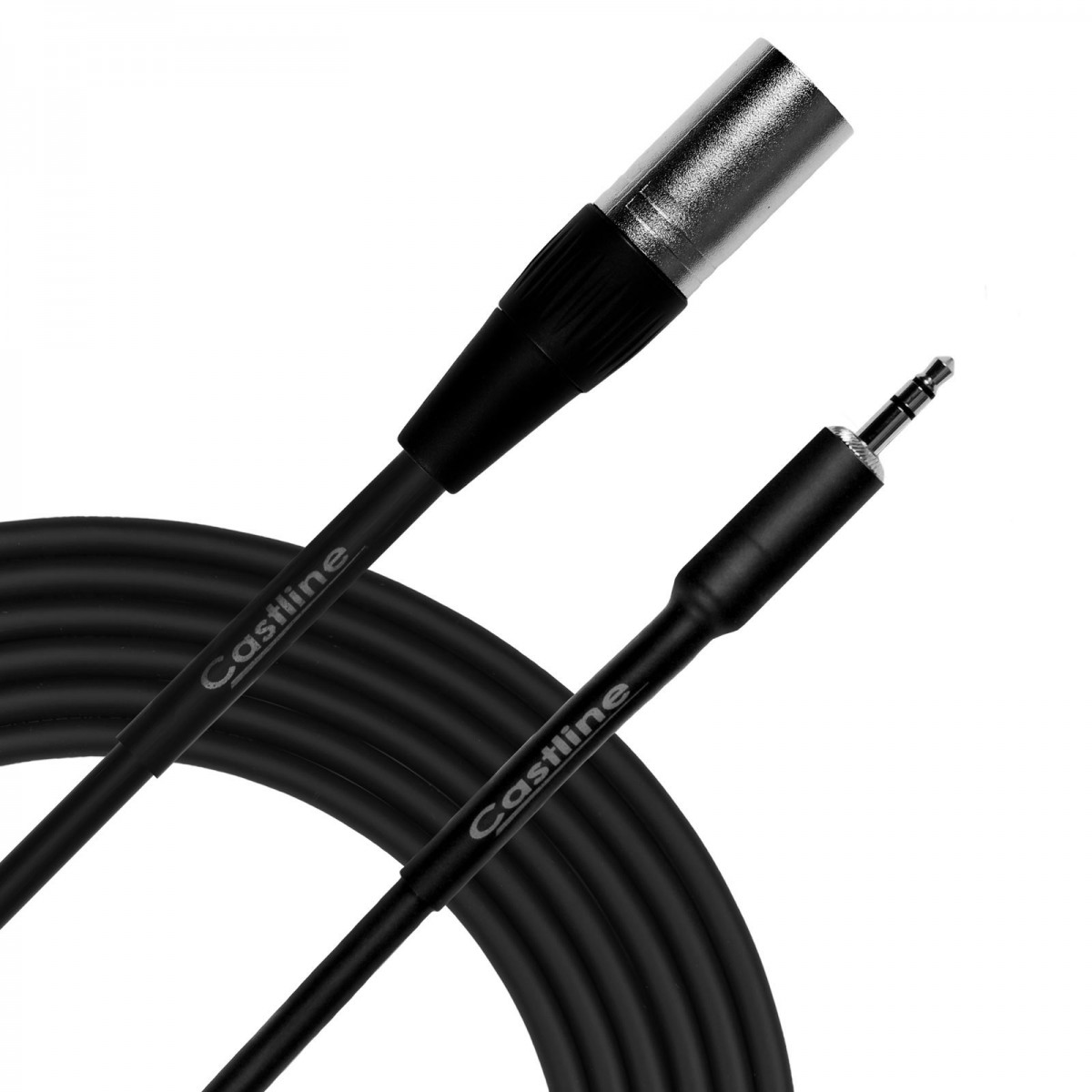 Castline Silver Xlr Male Female To 35mm Trs Patch Cable Mogami 2582 Wiring Audio