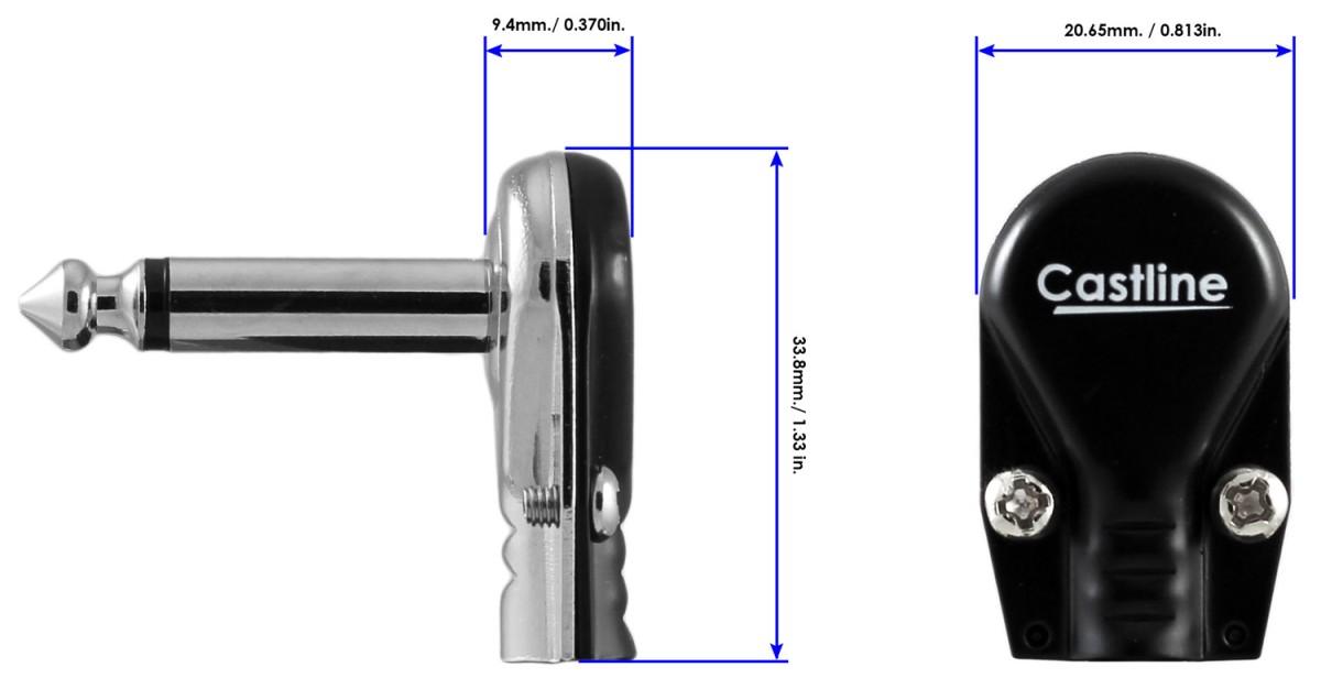 12 Castline Silver Mogami 2319 Guitar Pedal Board Patch
