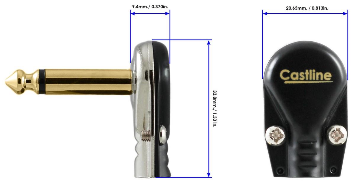 3 Ft Castline Gold Mogami 2524 Guitar Pedal Board Effects